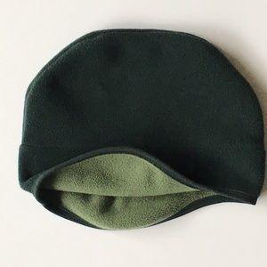 L.L. Bean fleece hat beanie green cap unisex snow